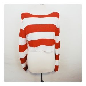 H&M Striped Cropped Sweater